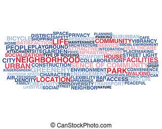 Urban neigborhood life
