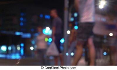 Urban night time lapse