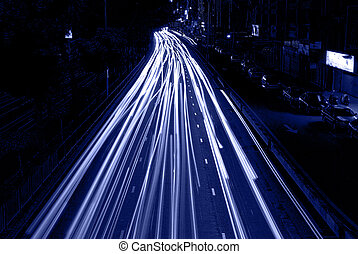 urban night traffic