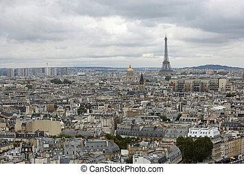 Urban Panorama of Paris in France