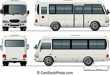 urban passenger mini-bus. Available EPS-8 vector format ...