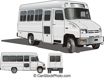 urban passenger mini-bus. Available EPS-8 vector format...