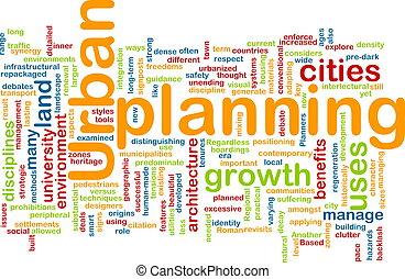 Urban planning background concept