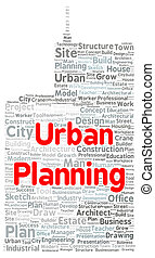 Urban planning word cloud shape