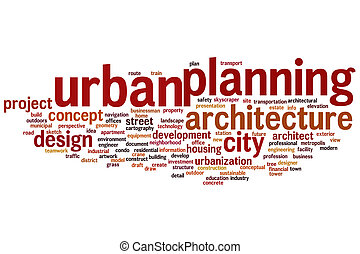 Urban planning word cloud - Urban planning concept word...