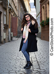 Urban portrait of a young woman