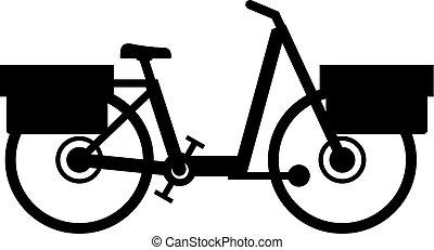 Urban postman mail delivering bike