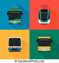 Urban public transport set