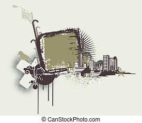 urban, ramme