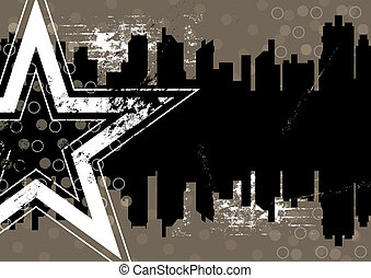 urban retro background design