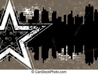 urban retro background design