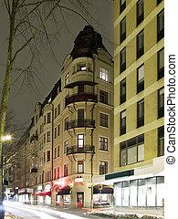 Urban Scene at night with Long Exposure