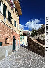 urban scene in Bogliasco, Italy