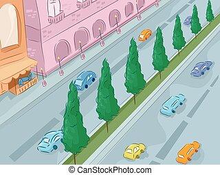Urban Scene Road