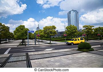 urban scene - the scene of the century squre pudong shanghai...
