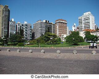 Urban scene - Urban Scene of Rosario, Argentina - day...