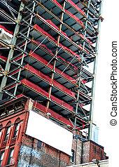 Urban Scene With Blank Billboard