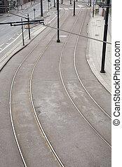 Tram Lines on Street