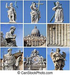 Urban scenes of the Vatican