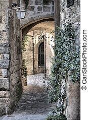 Urban scenic in Civita di Bagnoregio