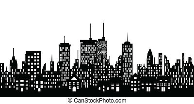 Urban skyline of a city - Urban skyline of a big city