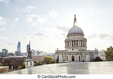 Urban skyline of London - Urban skyline with St. Paul...