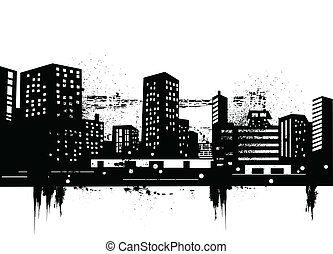 urban skylines - Vector illustration of urban skylines