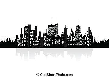 Urban skyscrapers cityview