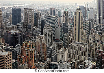 Urban Skyscrapers of New York City Skyline