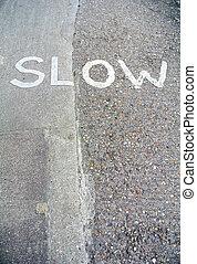 Urban slowdown signal