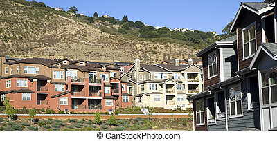 Urban Sprawl Makes it to the Country Homes Spring up For Domestic Living on Hillside