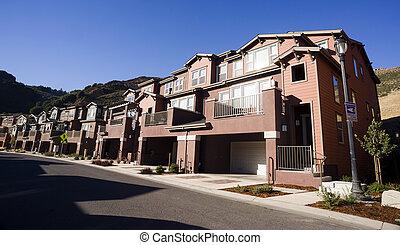 Urban Sprawl Suburban Condominiums Middle Upper Class...
