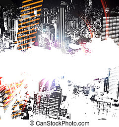urban, stinkande, grunge, layout