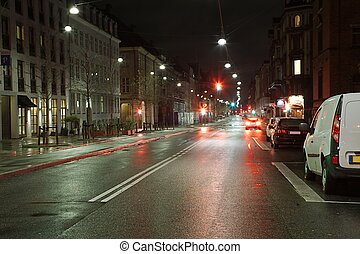 Urban street at night