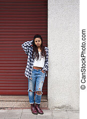 urban style girl in the city