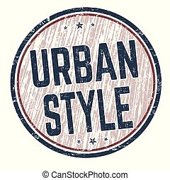 Urban style sign or stamp
