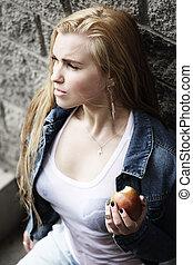 Urban style woman portrait