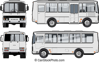 urban / suburban passenger mini-bus. Available EPS-10 vector format separated by groups and layers for easy edit