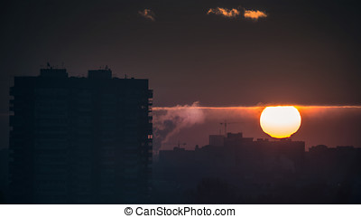 urban sunset