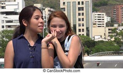 Urban Teen Girls Talking