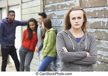urban, teenagers, miljö, liga, hänga ut