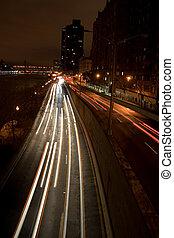 Urban Traffic at Night