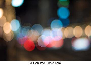 Urban traffic bokeh background