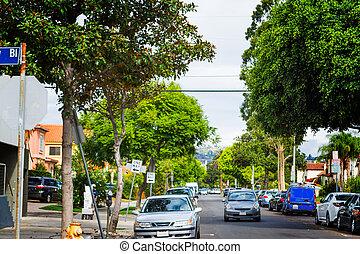 urban traffic in Los Angeles