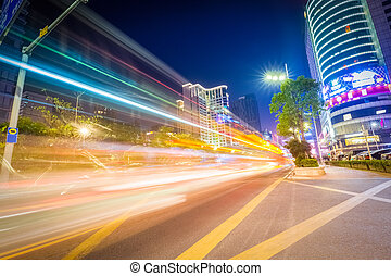 urban traffic night scene