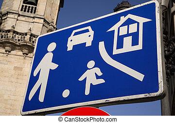 Urban Traffic Street Sign