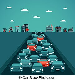 Urban traffic vector concept in flat style