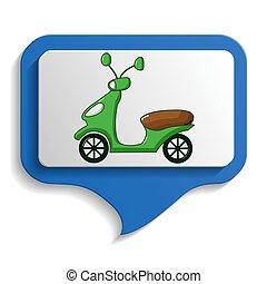 Urban transport's map sign icon, cartoon style