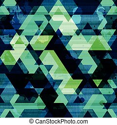 urban triangle seamless pattern with grunge effect