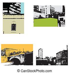 Urban vectors - a set of urban cityscape vectors